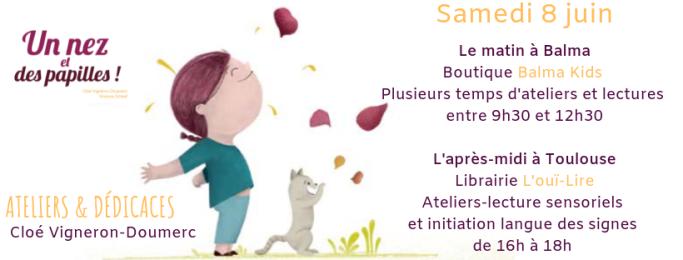 Ateliers-LECTURES SENSORIELS et RENCONTRE-DEDICACES AVEC L'AUTEUR